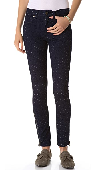 PAIGE Hoxton Ankle Zip Skinny Jeans