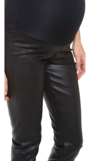 PAIGE Verdugo Maternity Coated Jeans