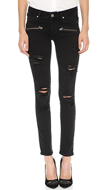 PAIGE Indio Zip Ultra Skinny Jeans