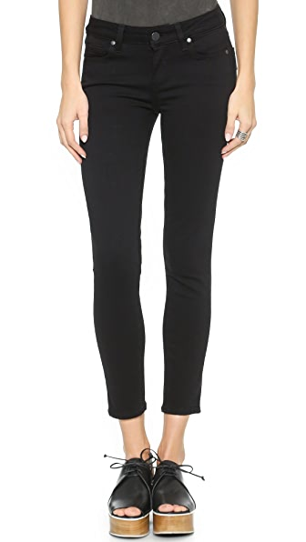 PAIGE Transcend Verdugo Skinny Cropped Jeans In Black Shadow