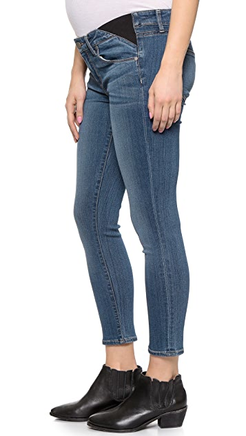 PAIGE Transcend Verdugo Cropped Maternity Jeans