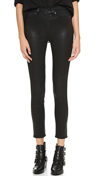 PAIGE Margot Ankle Skinny Jeans - Black Silk
