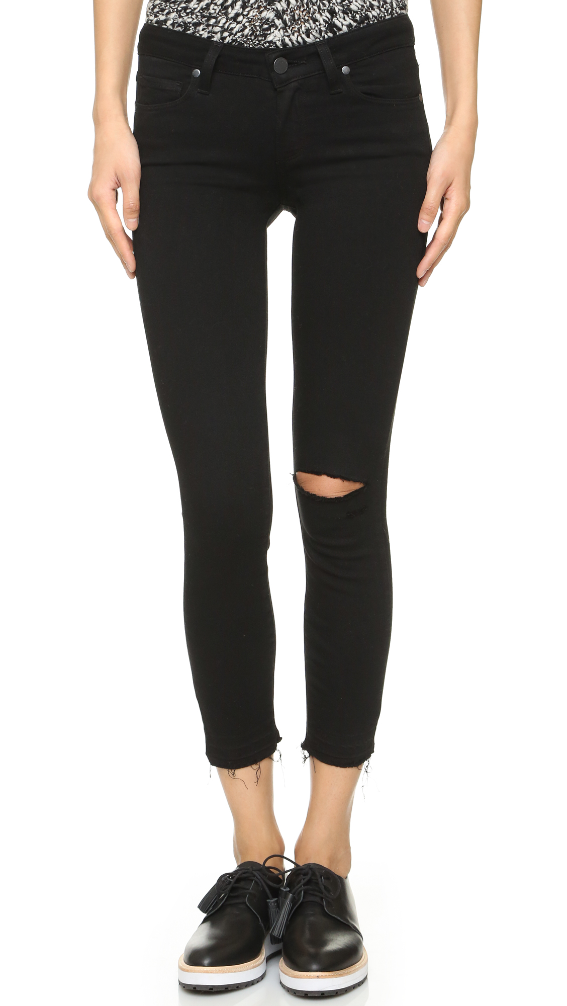PAIGE Verdugo Crop Skinny Jeans | 15% off first app purchase with ...