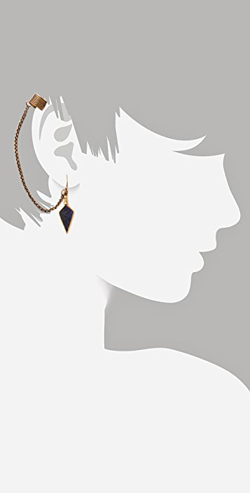 A Peace Treaty Itzli Earring with Cuff
