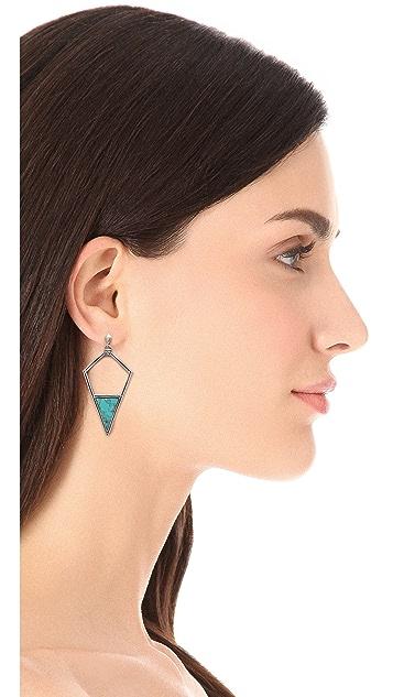 A Peace Treaty Leezh Open Arrowhead Earrings