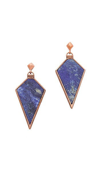 A Peace Treaty Atiin Lapis Arrowhead Earrings