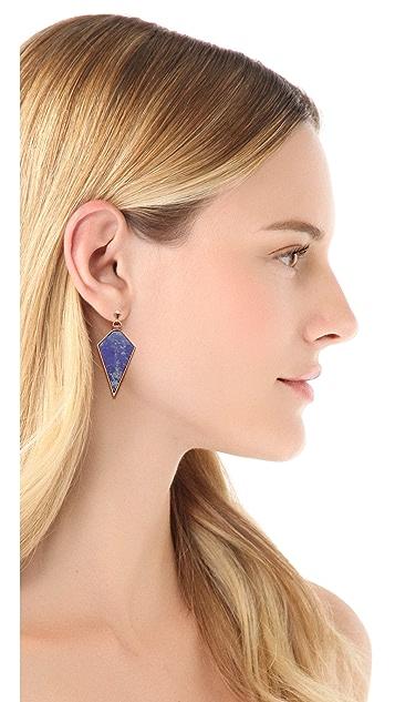 A Peace Treaty Atiin Lapis Arrowhead Earrings