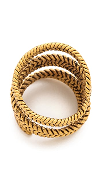 A Peace Treaty Yiizh Spiral Twist Ring