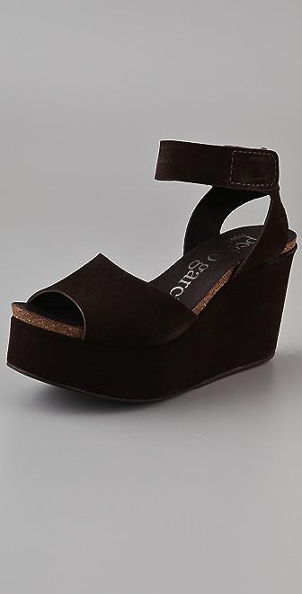 Pedro Garcia Demi Suede Platform Sandals