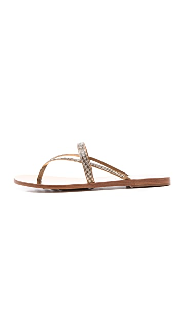 Pedro Garcia Zuriel Crystal Flat Sandals