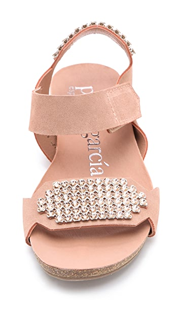 Pedro Garcia Juno Jeweled Sandals