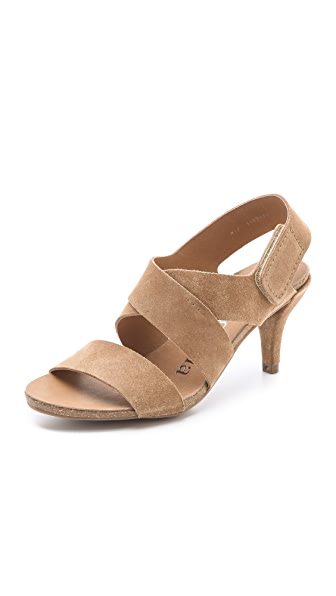 Pedro Garcia Willow Low Heel Sandals - Camel