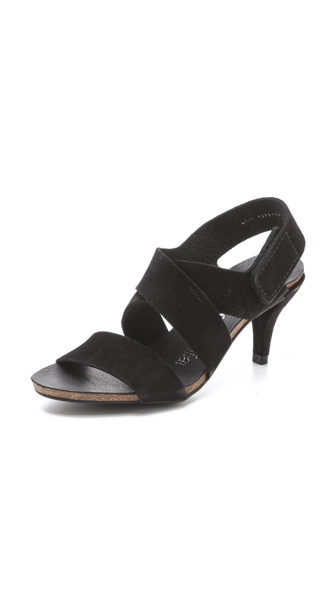 Pedro Garcia Willow Low Heel Sandals - Black