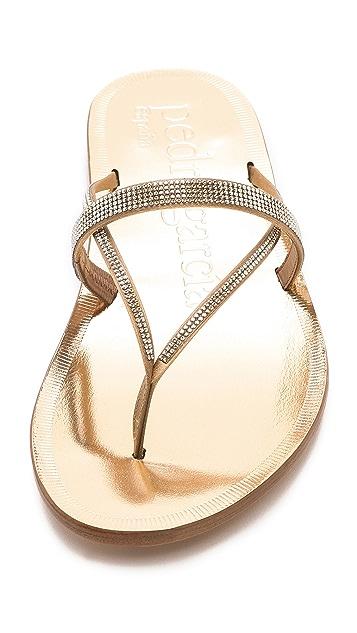 Pedro Garcia Zuriel Crystal Thong Sandals