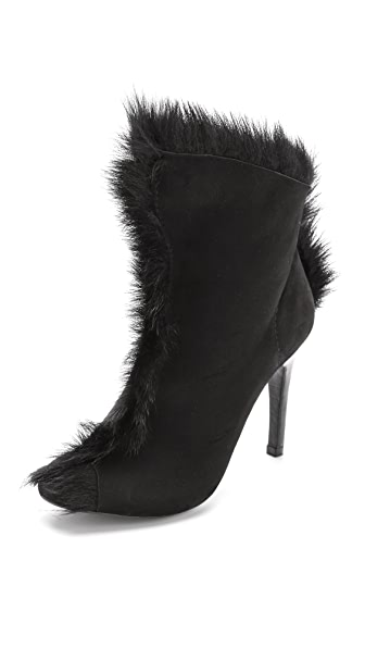 Pedro Garcia Saskya Open Toe Fur Booties