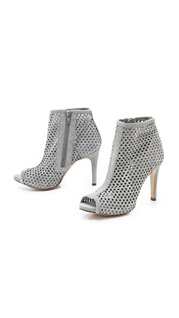 Pedro Garcia Sylvana Suede Perforated Booties