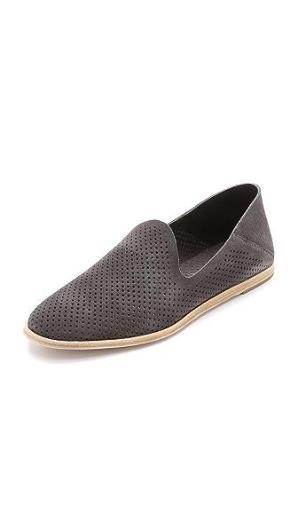 Pedro Garcia Yara Perforated Suede Loafers - Ash