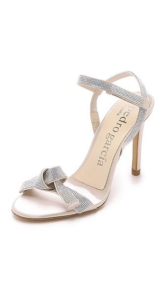 Pedro Garcia Candice Knot Crystal Sandals - Frappe