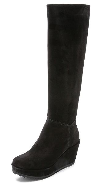 Pedro Garcia Franka Tall Wedge Boots - Black