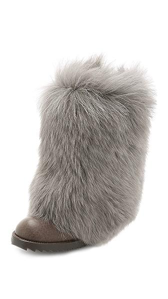 Pedro Garcia Odette Fur Boots - Fox