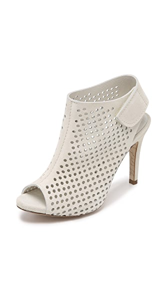 Pedro Garcia Sofia Perforated Booties - Chalk