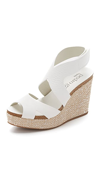 Pedro Garcia Marcia Platform Wedge Sandals - White