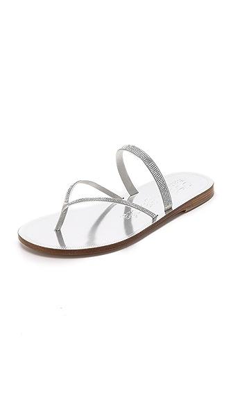 Pedro Garcia Ilsa Embellished Sandals - Platinum