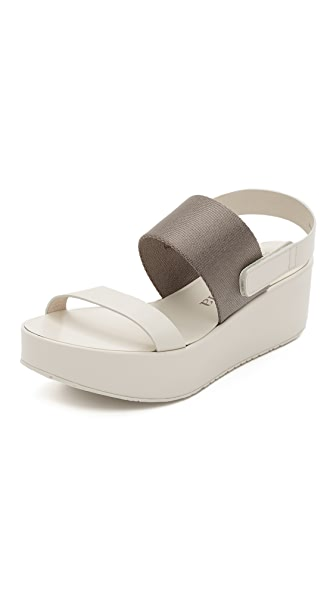 Pedro Garcia Nayeli Wedge Sandals - Ivory