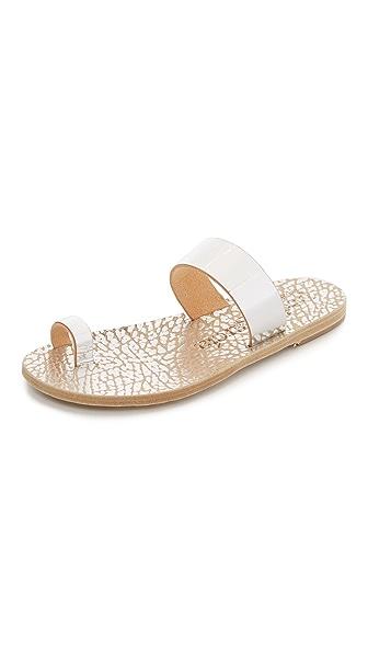 Pedro Garcia Iphigenia Toe Ring Sandals - Silver