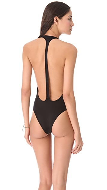 Peixoto Flamingo Halter One Piece Swimsuit