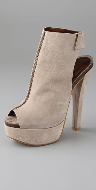 Pelle Moda Shantel Open Toe Platform Booties