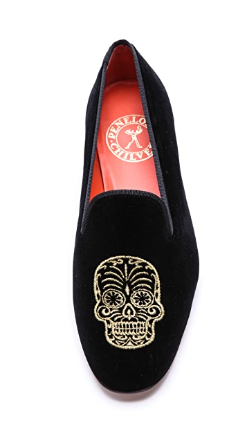 Penelope Chilvers Dandy Sugar Skull Slippers