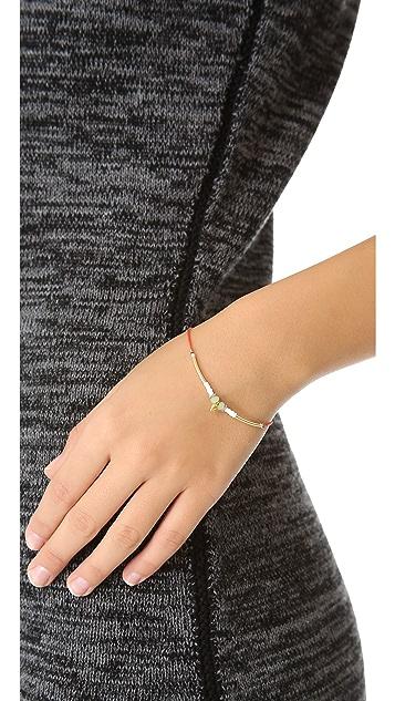 Petite Grand Cord Tube and Bead Bracelet