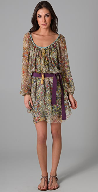Philosophy di Lorenzo Serafini Long Sleeve Belted Dress