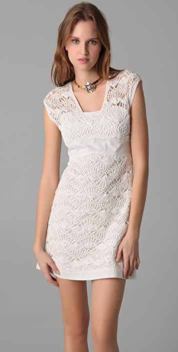 Philosophy di Lorenzo Serafini Lace Detail Dress