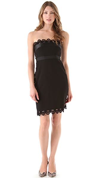 Philosophy di Lorenzo Serafini Strapless Lace Dress