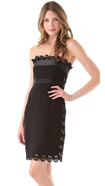 Philosophy di Lorenzo Serafini Strapless Lace Dress