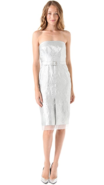 Philosophy di Lorenzo Serafini Strapless Jacquard Dress
