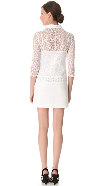 Philosophy di Lorenzo Serafini Mixed Lace Shirtdress