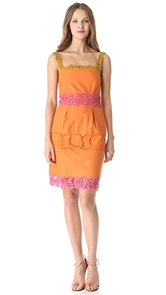 Philosophy di Lorenzo Serafini Lace Trim Shift Dress