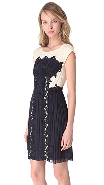 Philosophy di Lorenzo Serafini Lace Applique Dress