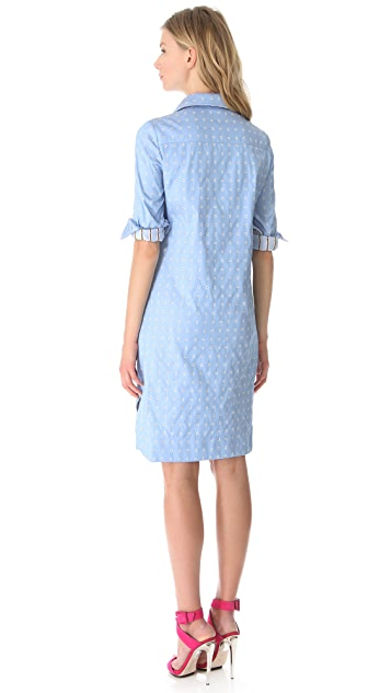 Philosophy di Lorenzo Serafini Jacquard Shirtdress
