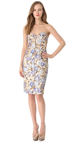 Philosophy di Lorenzo Serafini Strapless Floral Dress
