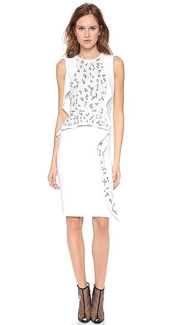 Philosophy di Lorenzo Serafini Sleeveless Embroidered Dress