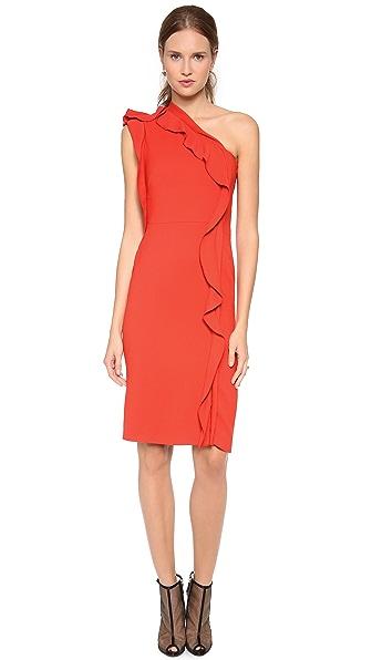 Philosophy di Lorenzo Serafini One Shoulder Ruffle Dress
