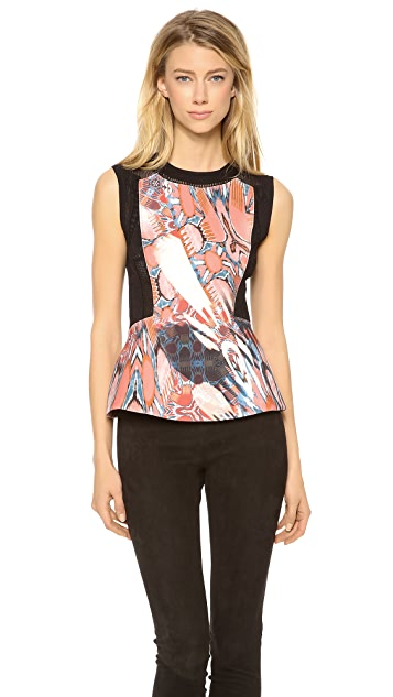 Philosophy di Lorenzo Serafini Sleeveless Printed Peplum Top