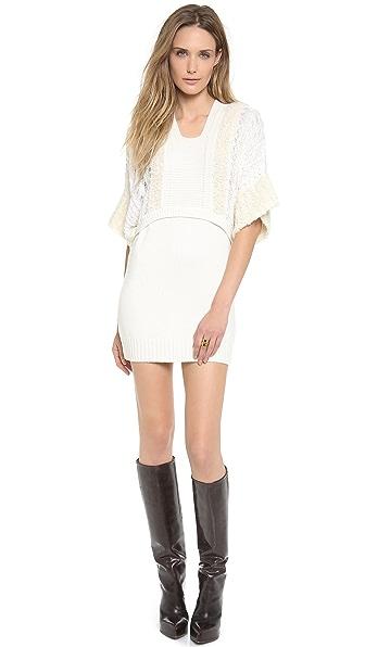 Philosophy di Lorenzo Serafini Short Sleeve Sweater Dress