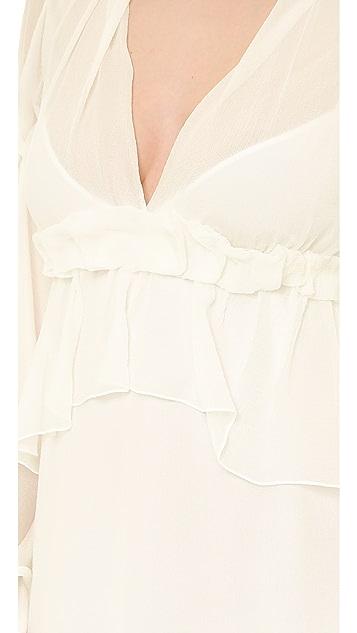Philosophy di Lorenzo Serafini Long Sleeve Chiffon Gown