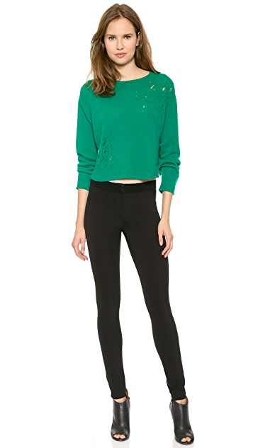 Philosophy di Lorenzo Serafini Cropped Pointelle Sweater
