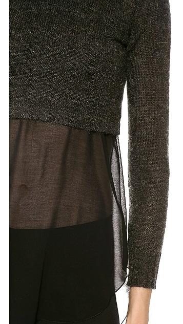 Philosophy di Lorenzo Serafini Crop Sweater & Long Tank Duo